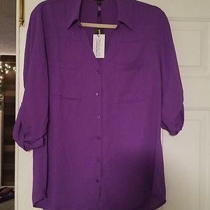 Express portofino purple blouse